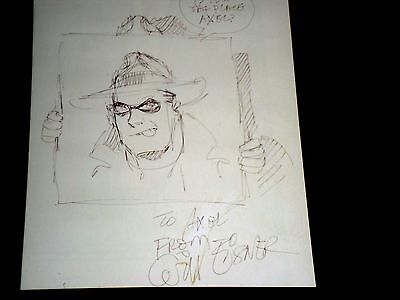 Will Eisner : schöne Originalzeichnung / ORIGINAL ART, THE SPIRIT, signiert  !!!