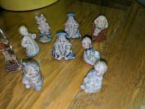 Nursery Rhyme figurines collected from tea