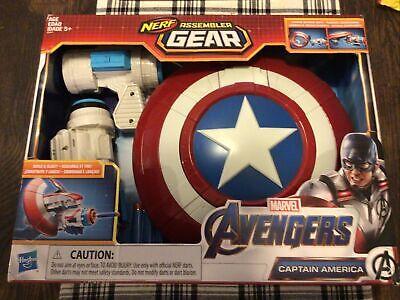 Marvel Avengers: Endgame Nerf Captain America Assembler Gear NIB FREE SHIPPING