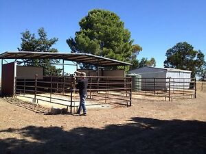 Horse stable fencing - Priefert brand Soldiers Hill Ballarat City Preview