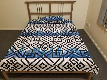 Brand new Screen printed curtains and bed sheet set