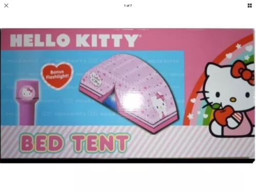 Hello Kitty - Hello Kitty bed tent and flashlight Sassy Slumber NIB childs toy play tent