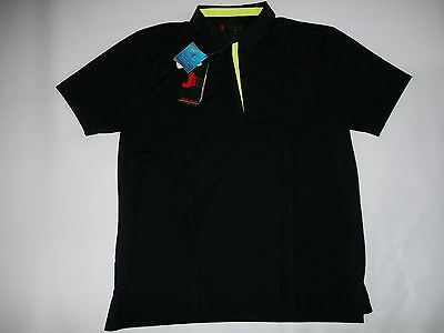 JAMIE SADOCK J men GOLF Black Short Sleeve Zip Polo SHIRT mens Size LARGE NEW