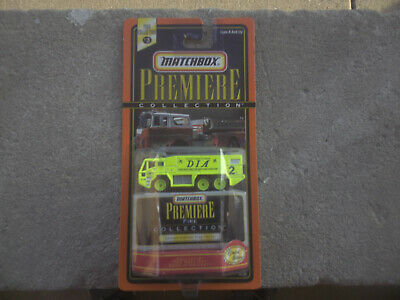 1998 Matchbox Premiere Collection  Denver Airport Fire Truck Green MOC Fire Truck Collectibles