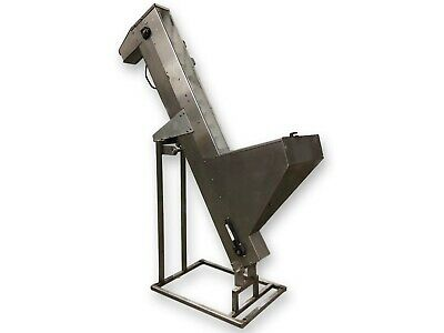Used 6 Wide Stainless Steel Portable Inclined Cleated Sanitary Belt Conveyor