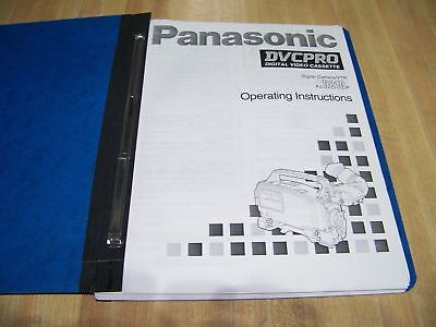 Panasonic Digital Camera/VTR AJ-D810P Operating Instructions for sale  Shipping to India