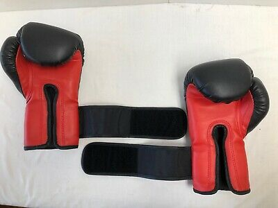 Ringside 12 oz. Black and Red Boxing Gloves Very Good Condition