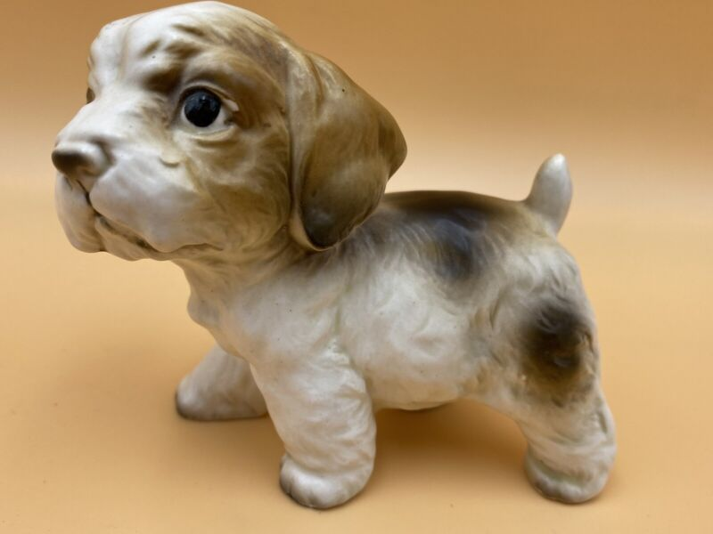 Vintage Spaniel Puppy Dog Figurine Porcelain, Made in Japan