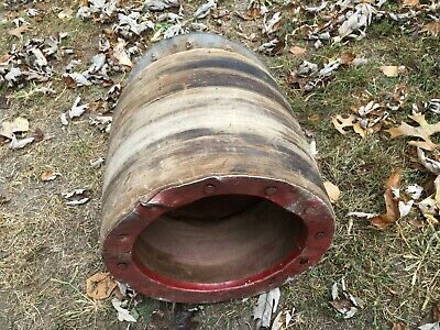 Vintage Old Steel Tractor Belt Pulley Cast Iron 12 Diameter Farm Fresh