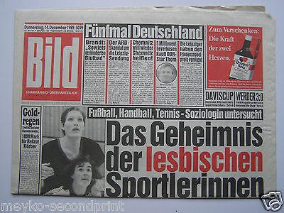 Bild Zeitung - Donnerstag den 14.12.1989, Zum 25. Geburtstag,