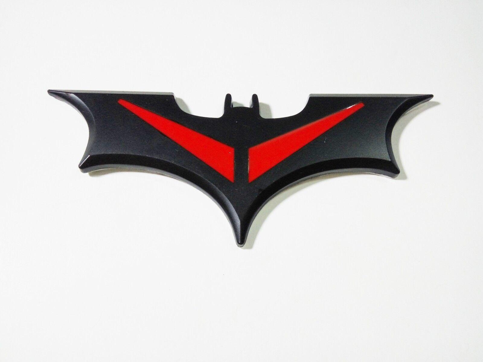 New Style 3D Metal Black Bat Auto Car Sticker Batman Badge Emblem Tail Decal