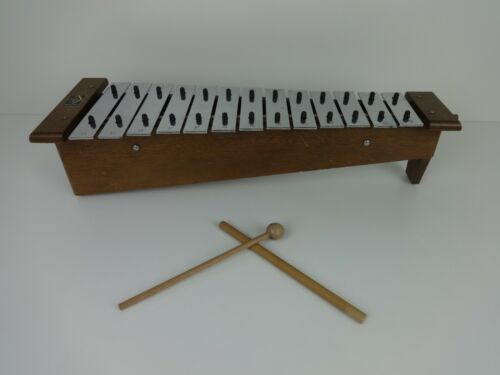 Vintage Glockenspiel Hohner Granton London Tuned Percussion Instrument 13 Key