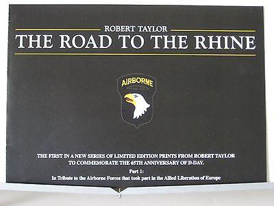 The Road to the Rhine C-47 Dakota Airborne Robert Taylor Aviation Art Brochure