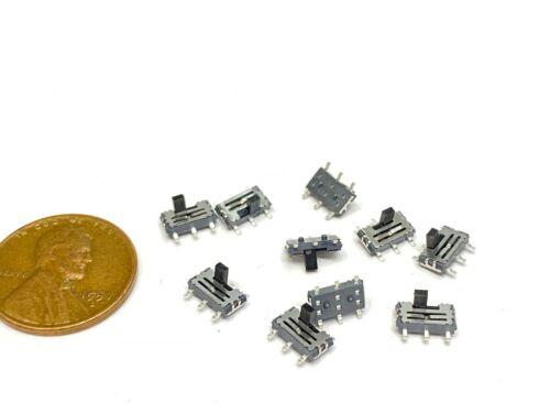 10 Pieces slide switch MSS-22C01 2P2T DPDT 2 Poles 6 Pins SMD Terminal Mini  E17