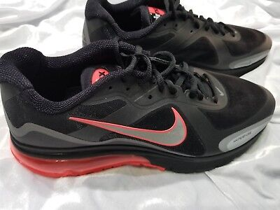 0495b98924 MENS NIKE AIR MAX HYPERFUSE ALPHA 2011 BLACK HOT RED SZ 13