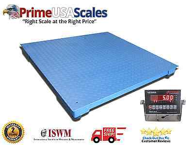 2500 Lb X .5 Lb Optima Ntep 3 X 3 Floor Pallet Scale With Indicator New