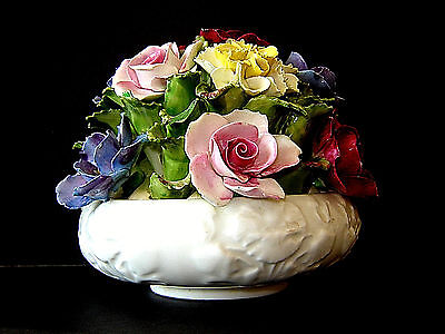 Estate Aynsley England 14 Flower Hand Modelled & Painted Bone China Bouquet #2