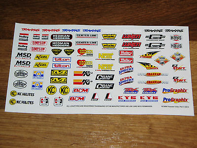 DECAL/STICKER SHEET 1/5-1/8-1/10 * RC MUSCLE CAR/TRUCK BODY *DRAG RACING/HOT ROD