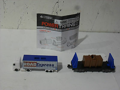 Power Trains Bulkhead Flat Car , Container Truck , Container , Cargo Crate .