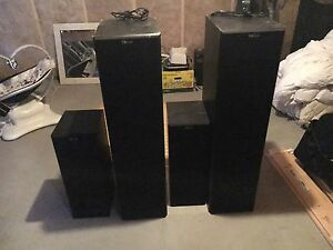 Nuance s-100 amplified sub woofer and speakers