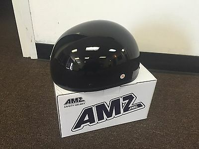 Gloss Black DOT Cruiser Motorcycle Half Helmet Skull Cap Harley Chopper Biker  ()