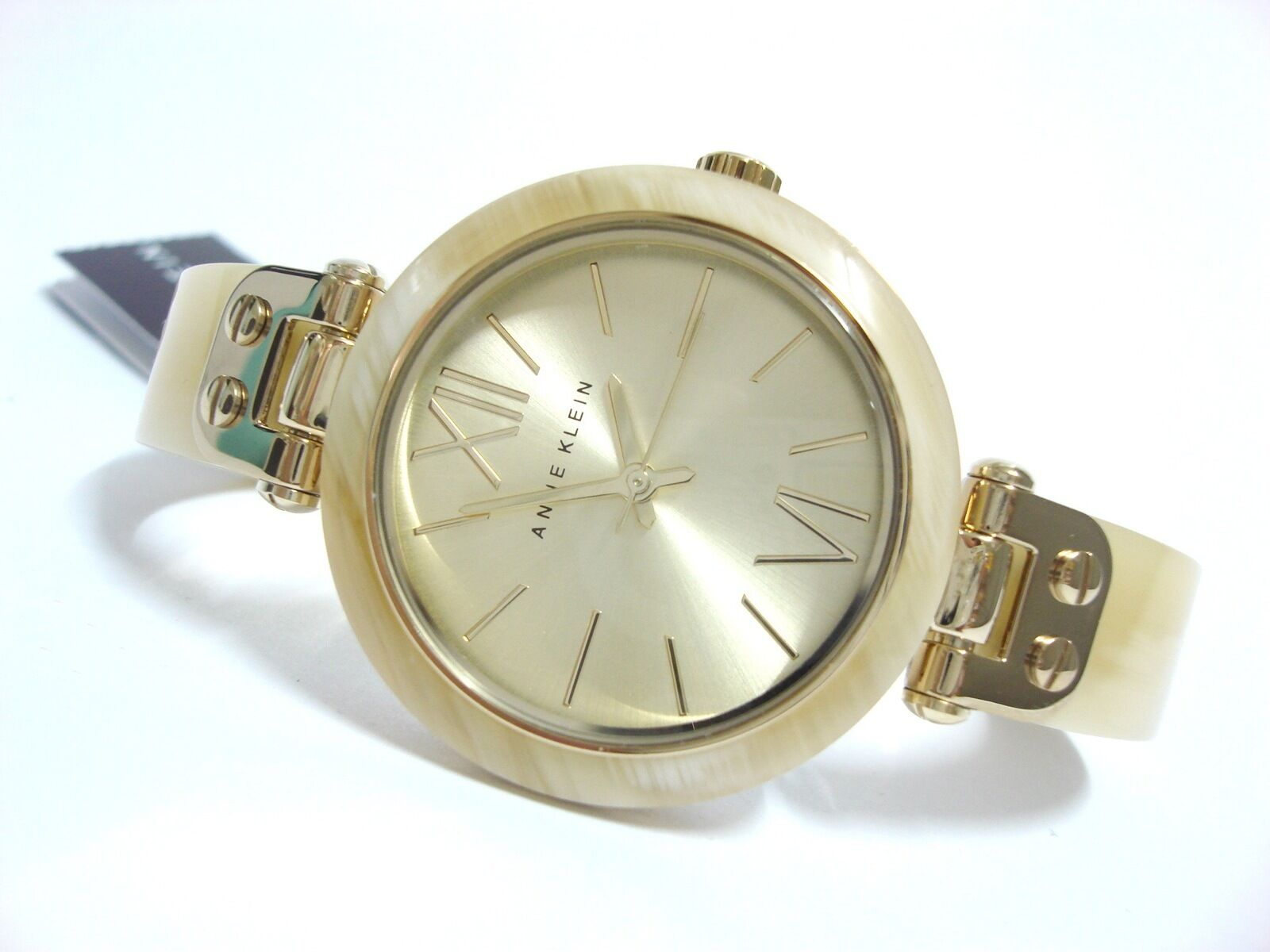 Anne Klein Watch * 9652CHHN Gold Slim Horn Resin Bangle for Women