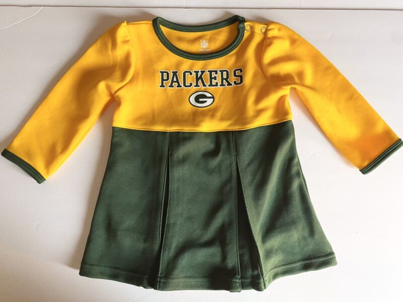 New Green Bay Packers Baby Sz 18M Cheerleader Outfit NFL