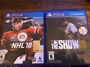 NHL 18 and MLB 18 For Sale