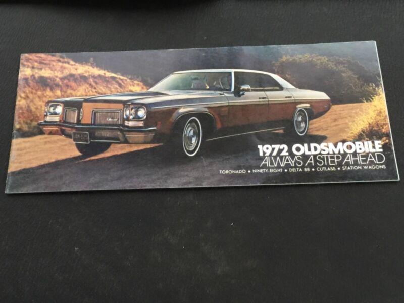 1972 OLSMOBILE  Original Manufactured Brochure
