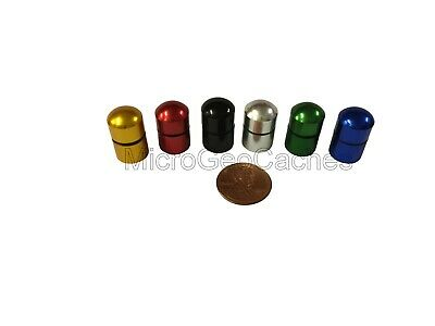 20 Nano Geocache Containers O-ring, Plastic Bison Tubes, Choice of Cap Colour