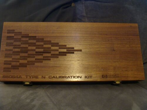 Keysight / Agilent / HP 85054A Calibration Kit Empty Wooden Box - Needs Foam