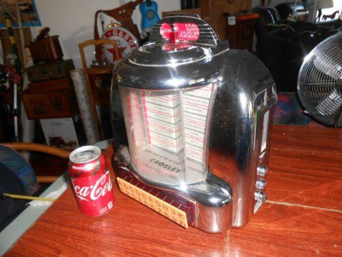 Crosley Juke Box Radio Cassette Player Diner TableTop Collectors Ed. CR-9 WORKS