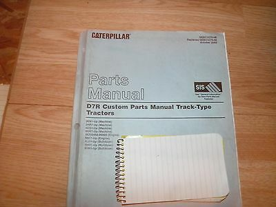 Cat Caterpillar D7r Custom Parts Manual Book Tractor Bulldozer 2en 2hr 3dn 9hm