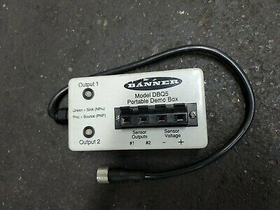 Banner Portable Demo Box Model Dbq5 5 Prong Sensor Testing Equipment- Automation