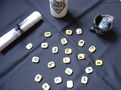 Echte Alt germanische Hexen  Runen aus Holz mit Anleitung