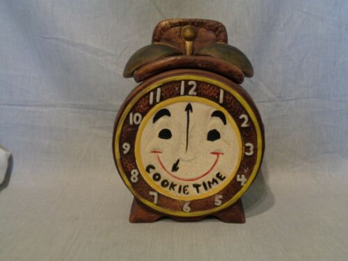 COOKIE TIME ALARM CLOCK COOKIE JAR California Originals OR MCCOY 860