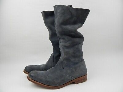 N.D.C. Made by Hand Slouchy Distressed Grey Suede Boots Women's sz 36 6