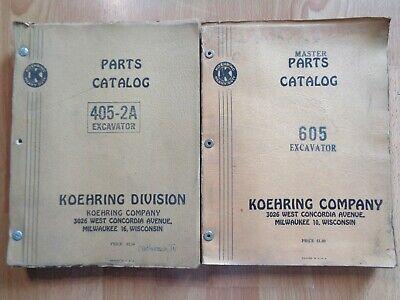 Vintage Koehring 605 405-2a Excavator Original Parts Catalogs Oem 1950s
