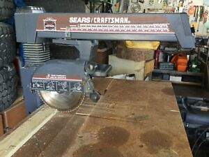 "Heavy Duty 10"" Sears Craftsman Radial Arm Saw and Cabinet"
