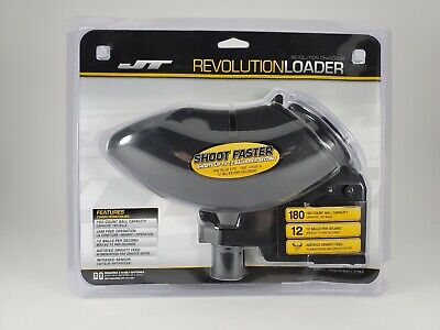 JT Revolution Paintball Loader Electronic Fed Hopper/ Holds up to 180 (Ups Electronic)