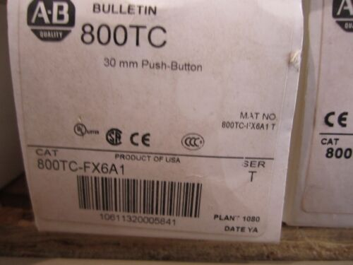 NEW ALLEN BRADLEY 800TC-FX6A1 PUSH BUTTON