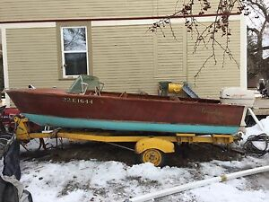 1960's Peterborough Wooden Boat