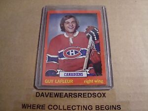 Guy-Lafleur-1973-74-Topps-Hockey-Card-72-Montreal-Canadiens-Excellent-Condition