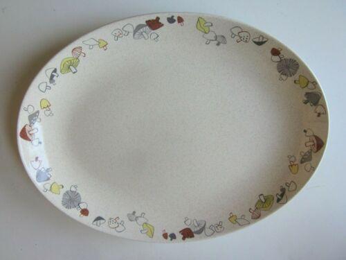 Vintage Franciscan Ware Woodlore Mushrooms Platter