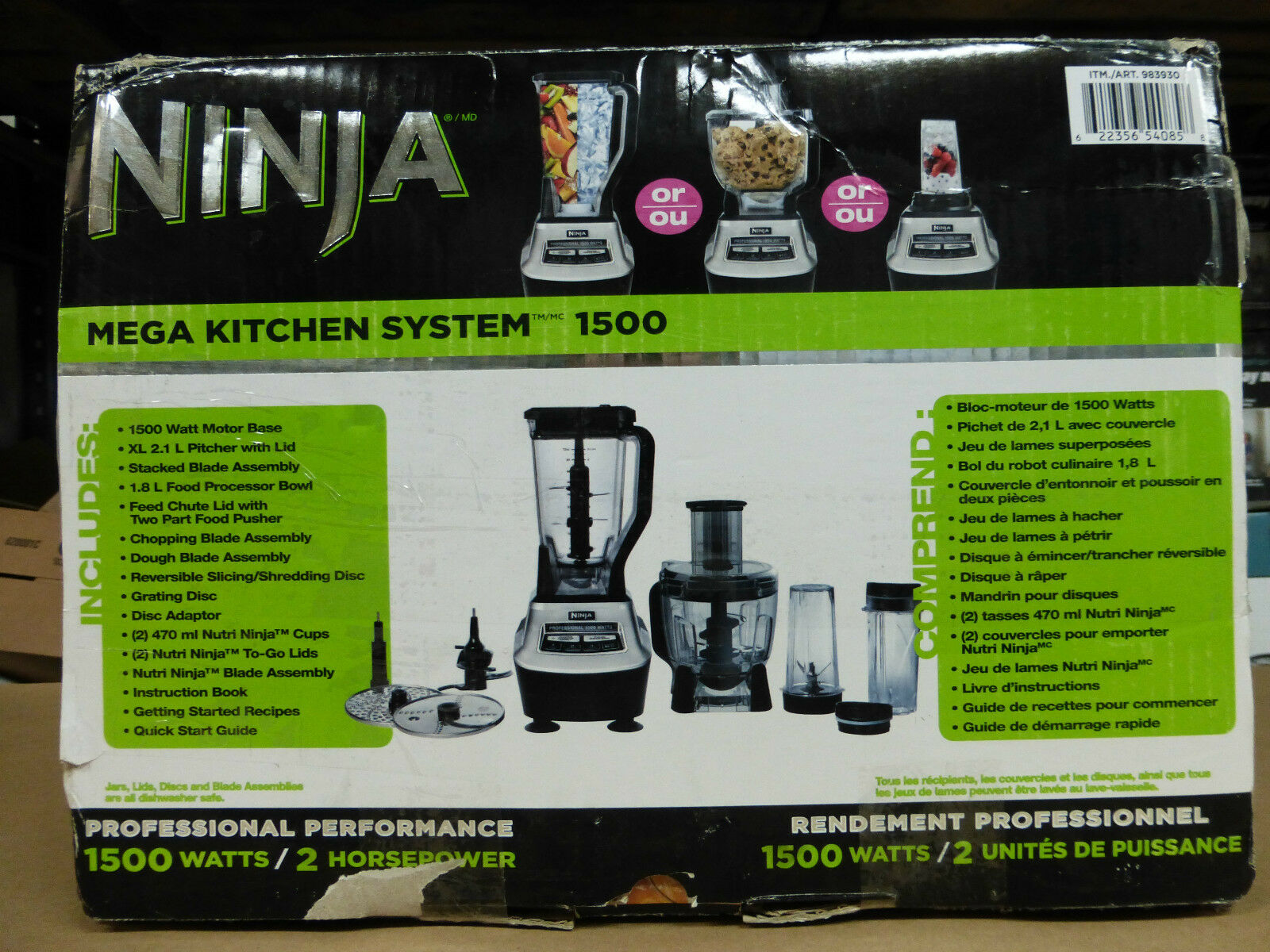 ninja kitchen system blender food processor