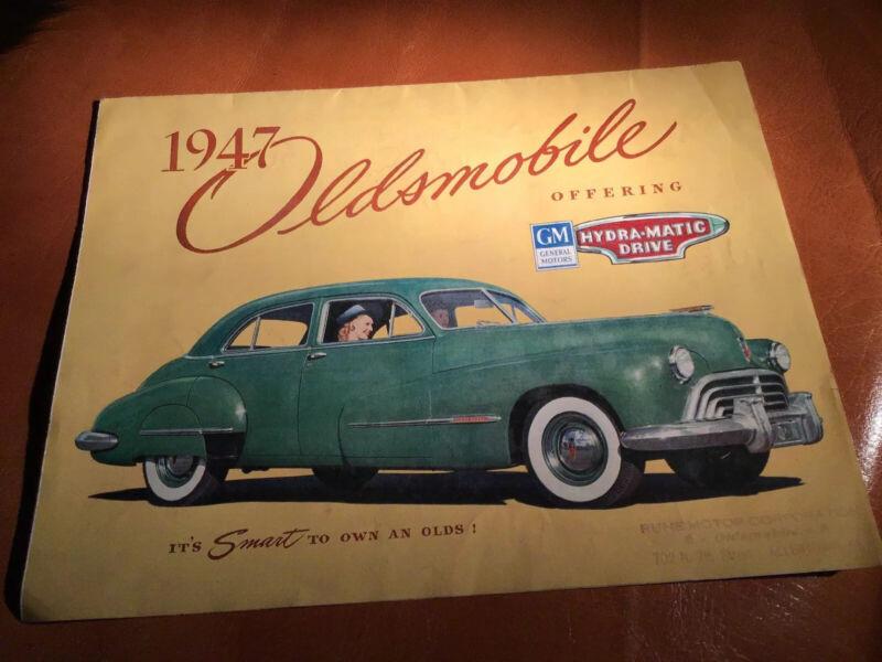 Original 1947 Oldsmobile Car Advertising Foldout Brochure