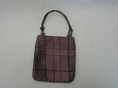 Prada Womens Purple Plaid Fabric Purse / Handbag Plaid Fabric Handbags