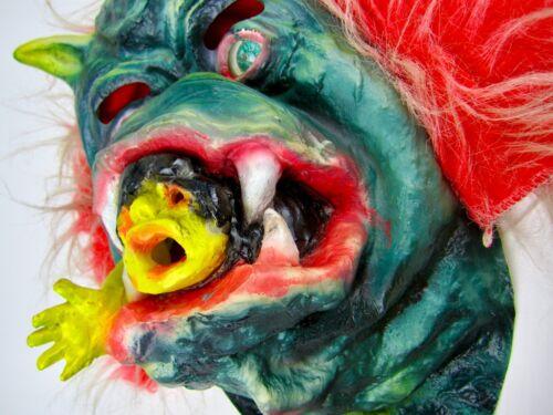 Vintage RARE Latex Rubber DEMON Halloween Monster Mask Retro Scary Topstone?