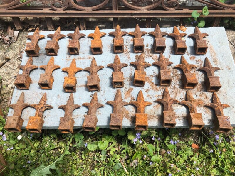Vintage Cast Iron Fence Toppers