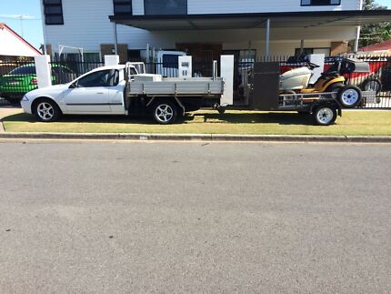 Ford Ute and Mowing Trailer with Mowers Package Rochedale South Brisbane South East Preview